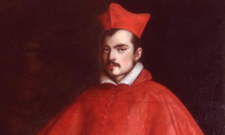 quadro con cardinale vestito di rosso